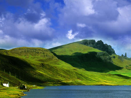 highlands: the isle of skye in Scotland, Great Britain UK