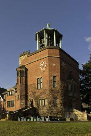 quaker: carillon bourneville birmingham midlands england uk - bell tower now part of school
