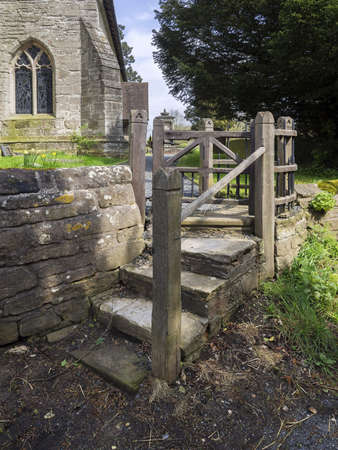 A gate on a footpath. Stock Photo - 13558414