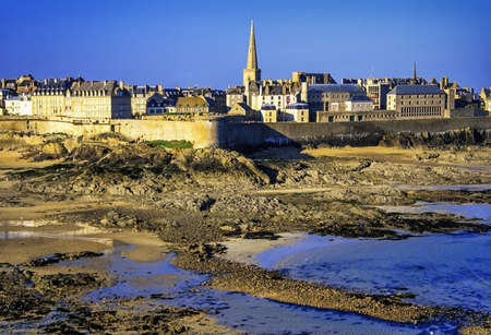 st-malo brittany france Stock Photo