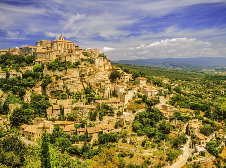 france provence gordes village vaucluse the luberon europe photo