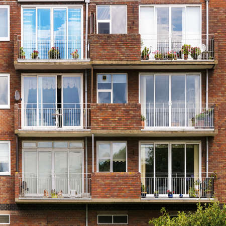 avon: flats apartments stratford upon avon warwickshire the midlands england uk Stock Photo