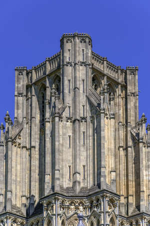 county somerset: Wells medieval cathedral, in the county of somerset  in the UK