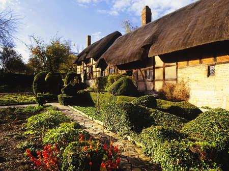 anne: anne hathaways cottage home of william shakespeares wife shottery stratford-upon-avon great britain england uk united kingdom eu Stock Photo