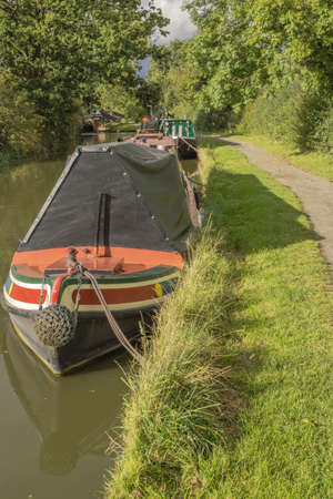 a canal on the inland waterways network of navigable canals and waterways in the english and british countryside in the uk, united kingdom, great britain, europe Stock Photo - 16110722
