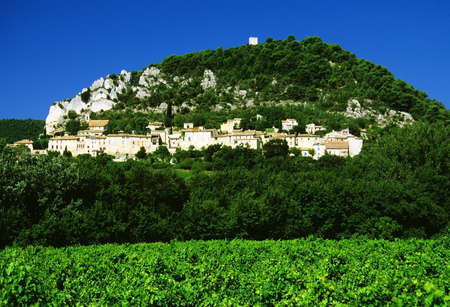 massif: a village with old houses in france