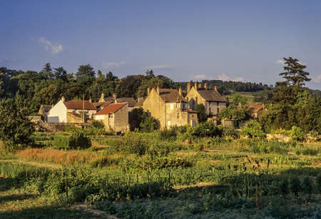 a village with old houses in france Stock Photo - 16110393