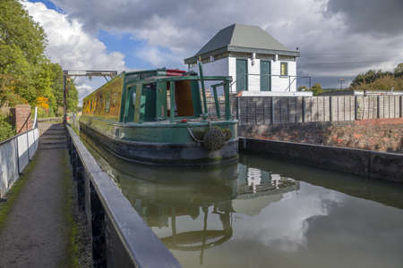 a canal on the inland waterways network of navigable canals and waterways in the english and british countryside in the uk, united kingdom, great britain, europe Stock Photo - 16149395