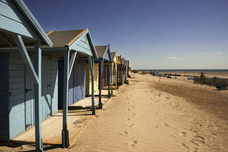 typically english: west wittering beach sussex england