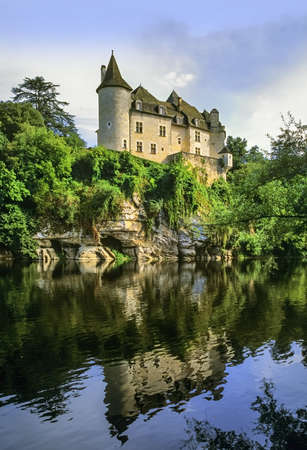 aquitaine: the valley of the river dordogne aquitaine france
