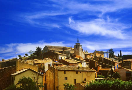 roussillon: village in france - roussillon provence