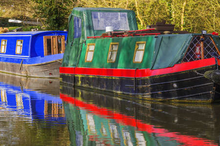 a canal on the inland waterways network of navigable canals and waterways in the english and british countryside in the uk, united kingdom, great britain, europe Stock Photo - 17292096
