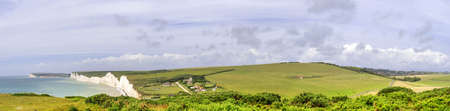 sussex: sussex south downs way the seven sisters Stock Photo