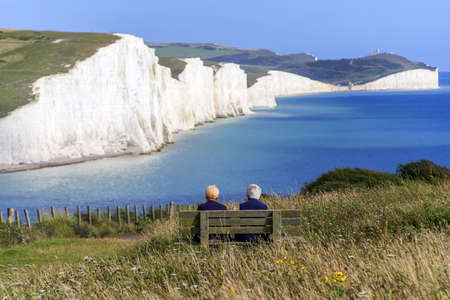 erode: sussex south downs way the seven sisters Stock Photo