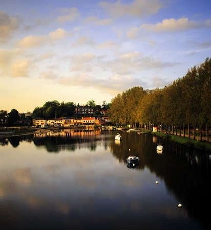 loire: river, the city of nantes in western france