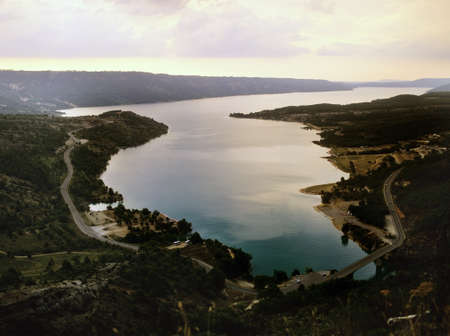 lake in the provence countryside, france Stock Photo - 17512499