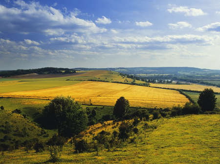 a view over the chiltern hills buckinghamshire uk photo