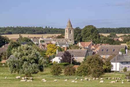 a village in the english countryside photo