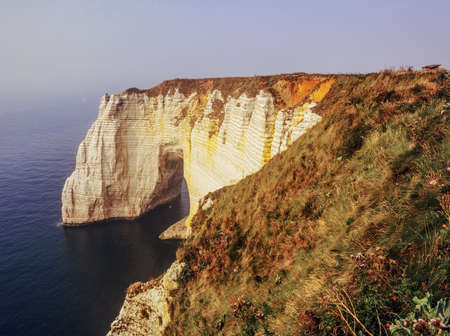 cliffs on the coast of normandy france at etretat Stock Photo - 17755579
