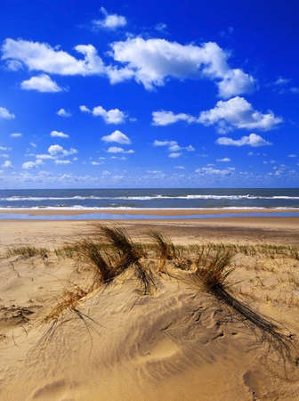 vendee: a beach on the atlantic coast france Stock Photo