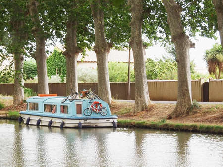 generic location: canal du midi in the languedoc france