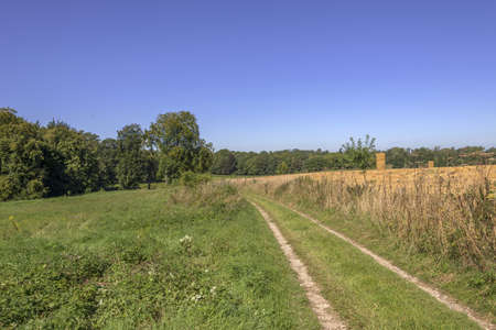 rambling: a footpath and public bridleway through the countryside