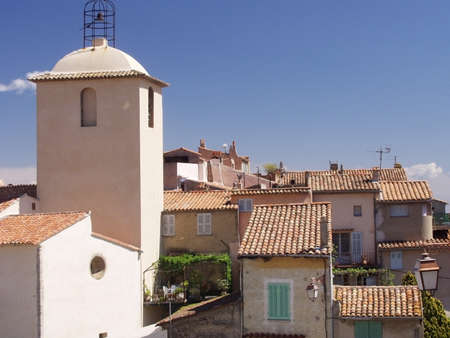 panoramics: a village with old houses in france