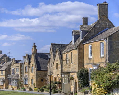 cottages in broadway village in the cotswolds, worcestershire, england, uk photo