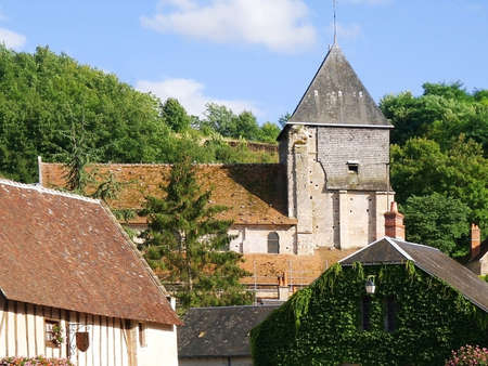 hamlets: a village with old houses in france