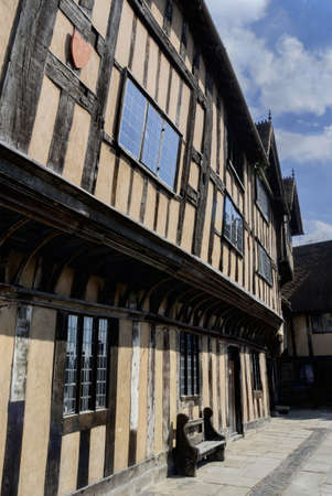 half timbered: Old buildings in Warwick.