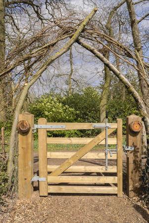 generic location: A gate on a footpath