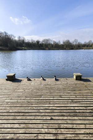 country park: flecha valle parque lago pa�s Redditch Worcestershire Midlands Inglaterra Reino Unido