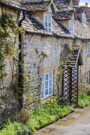 gloucestershire: old house in the cotswold village of winchcombe