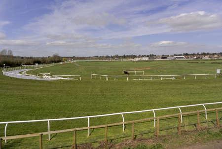 typically english: stratford upon avon racecourse Stock Photo
