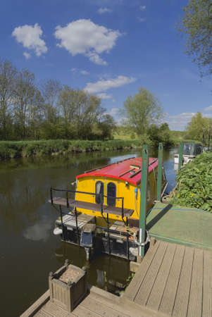 inland waterways: a canal on the inland waterways network of navigable canals and waterways in the english and british countryside in the uk, united kingdom, great britain, europe - the river avon on warwickshire