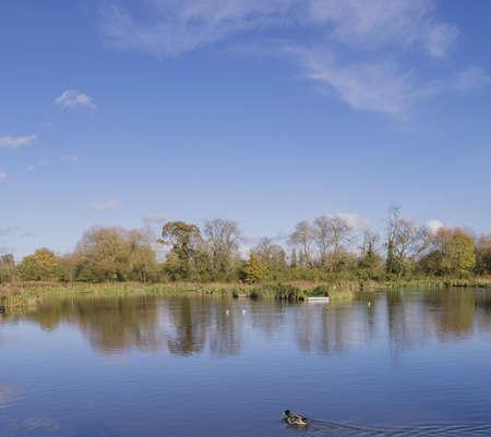 avon: warwick, river avon Stock Photo