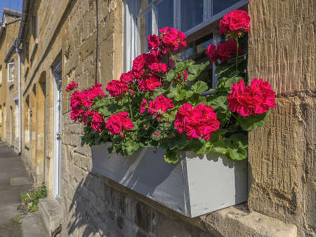 hamlets: village with houses in countryside - blockley cotswolds