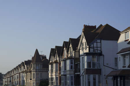 row of houses bexhill-on-sea, sussex photo