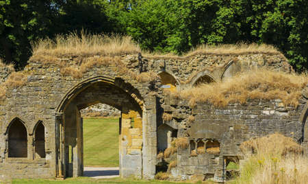 cistercian: the ruins of the cistercian hailes abbey winchcombe gloucestershire england uk Stock Photo