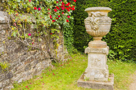 11th century: grounds and gardens of battle abbey, east sussex, uk Stock Photo