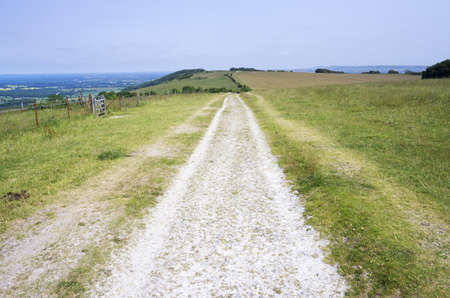 footpath south downs sussex uk photo