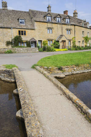 lower slaughter village the cotswolds gloucestershire the midlands england uk