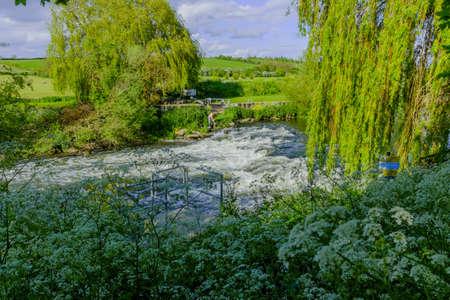 avon: river avon bidford on avon warwickshire england uk