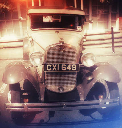 Old vintage ford car of the type used by gangsters like al Capone and Hollywood stars Stock Photo