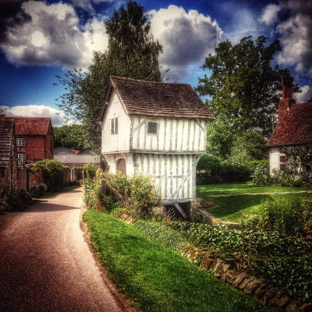half timbered: Cottage