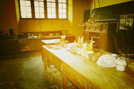 interior: Stately home Charlecote park Warwickshire midlands England uk