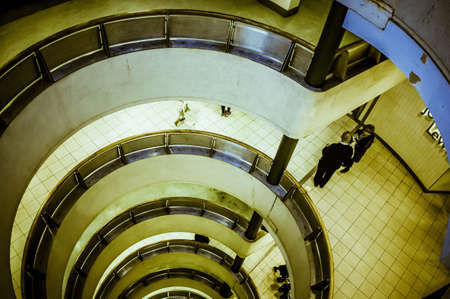 stair well: Urban stair well Stock Photo