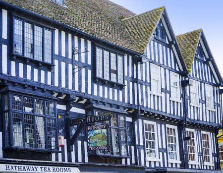 avon: Old timber framed buildings in Stratford upon Avon Stock Photo