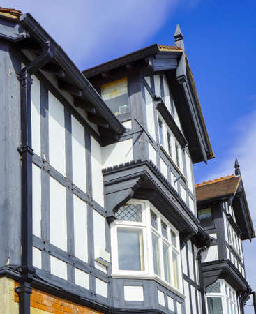 stratford upon avon: Old timber framed buildings in Stratford upon Avon Stock Photo