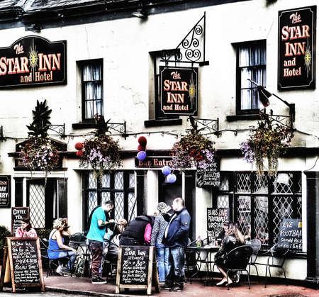 severn: Bank holiday upton on Severn Worcestershire England uk Stock Photo